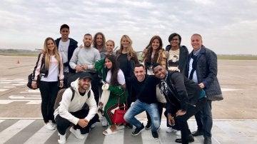 Los amigos de Messi a su llegada a Rosario
