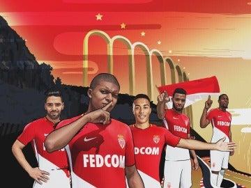 La nueva camiseta del Mónaco, con Mbappé como protagonista