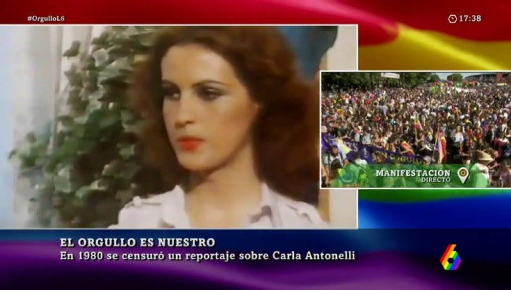 Carla Antonelli en una imagen del reportaje que se censuró en 1980