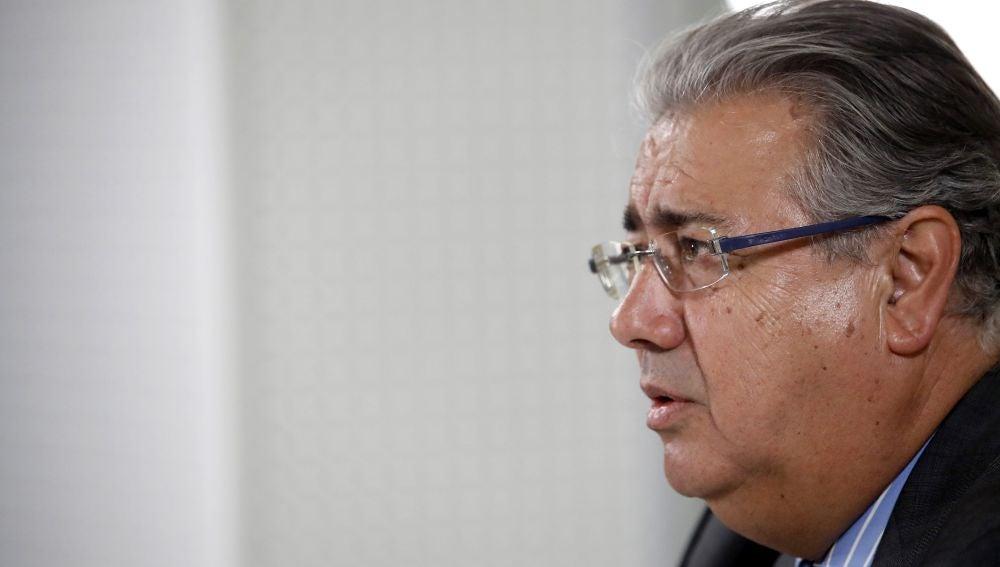 El ministro del Interior, Juan Ignacio Zoido, durante una entrevista con Efe