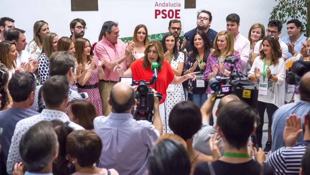 La secretaria general del PSOE andaluz y presidenta de la Junta, Susana Díaz