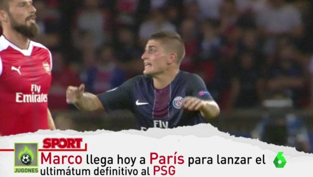 Marco Verratti presiona para irse al Barcelona