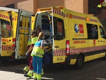 Trabajadores sanitarios de Emergencias Madrid