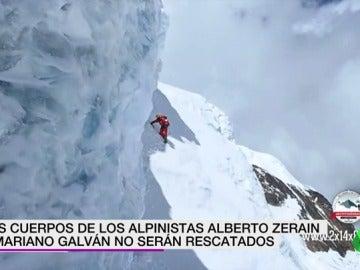 Los cuerpos de los alpinistas Alberto Zerain y Marinano Galván no serán rescatados