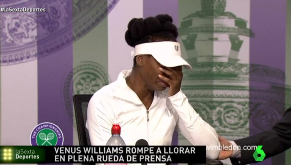 Venus Williams rompe a llorar en plena rueda de prensa