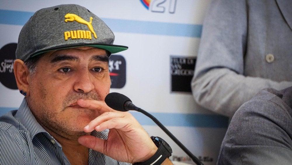 Maradona, en un acto en Nápoles