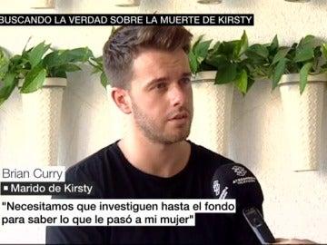Brian Curry, marido de Kirsty, que falleció en Benidorm
