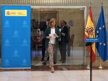 Fátima Báñez, durante una rueda de prensa