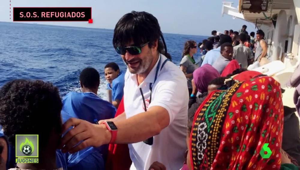 Jordi Villacampa, en la misión en el Mediterráneo