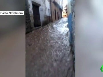 Inundación en Valverde de la Vera