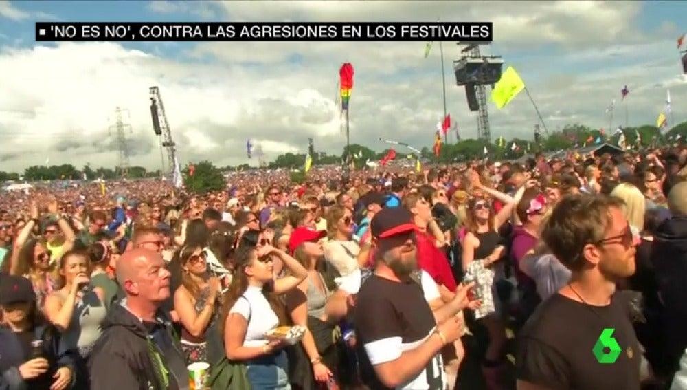 Asistentes a un festival