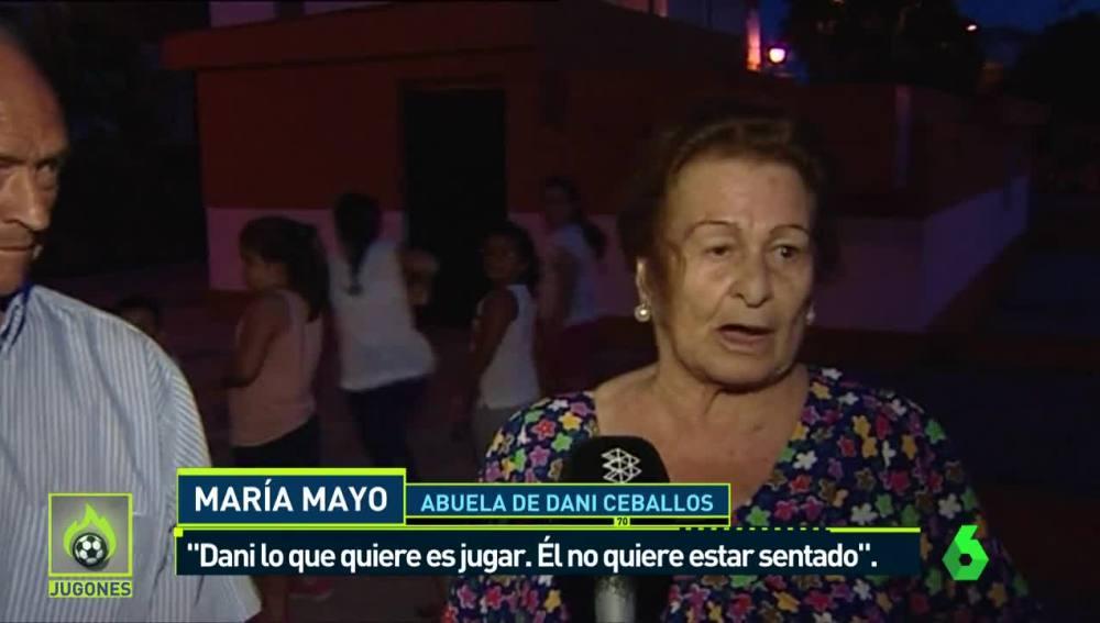 María Mayo, abuela de Dani Ceballos