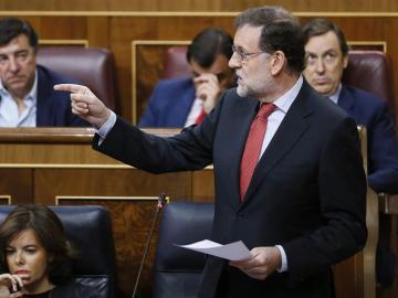 Mariano Rajoy, en la sesión de control del Congreso