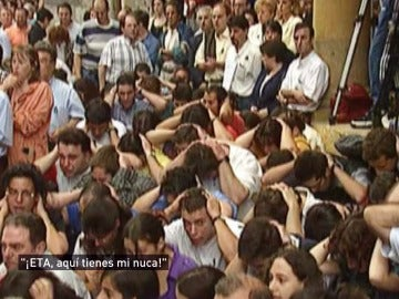 """""""ETA, aquí tienes mi nuca"""", el grito tras el asesinato de Miguel Ángel Blanco"""