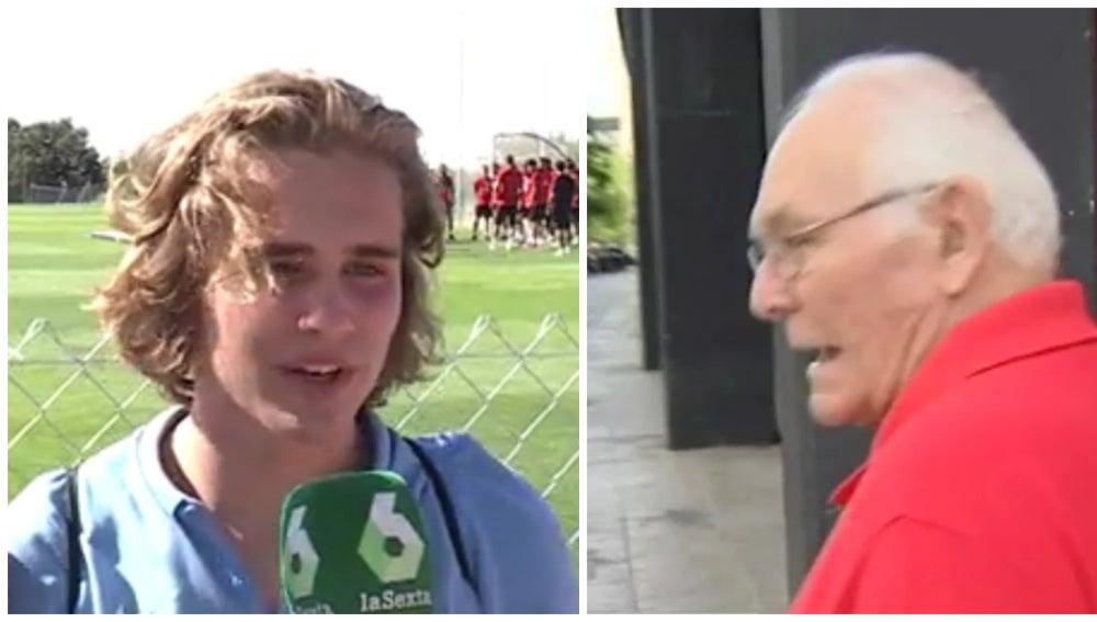 Aficionados del Atlético de Madrid y del Sevilla, enfrentados por Vitolo