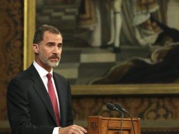 El rey Felipe VI, en el parlamento británico
