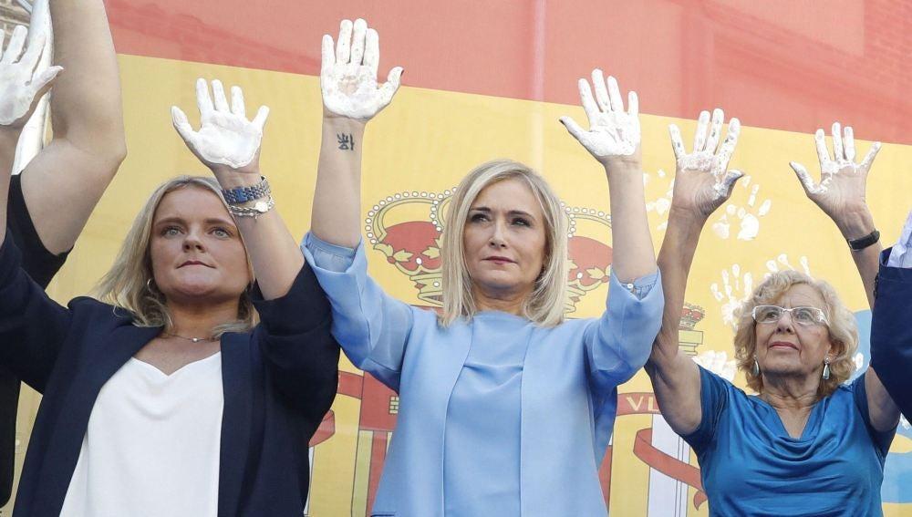 Marimar Blanco, Cristina Cifuentes y Manuela Carmena