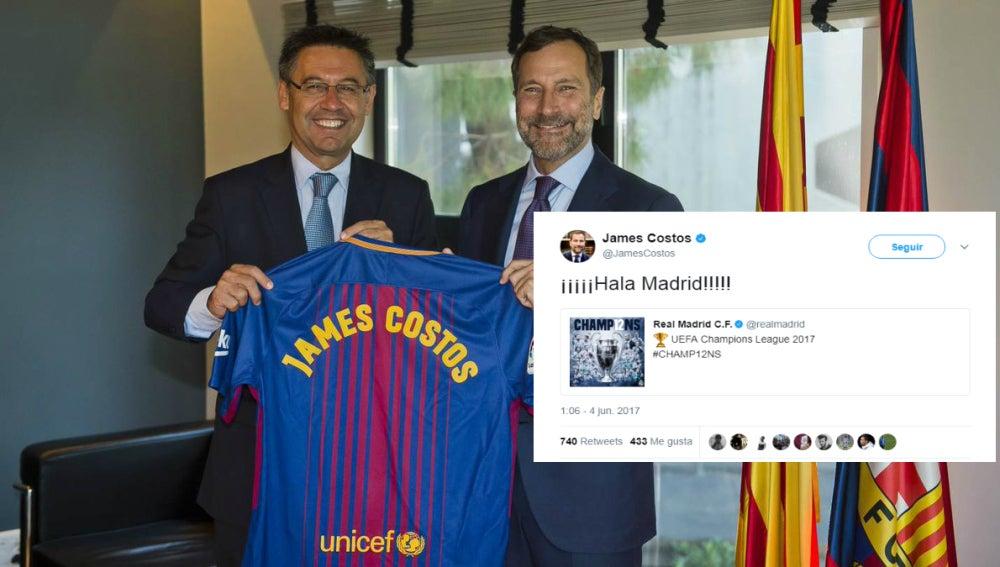 Bartomeu, James Costos y su tuit de apoyo al Real Madrid