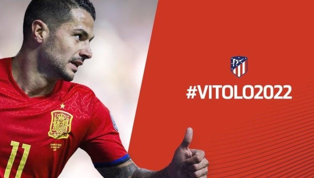 Vitolo, jugador del Atlético de Madrid hasta 2022