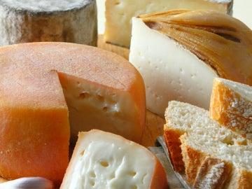 Diferentes variedades de quesos