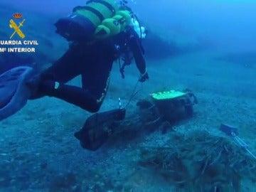 Localizan un artefacto de la II Guerra Mundial a dos millas de Tabarca y a 29 metros de profundidad