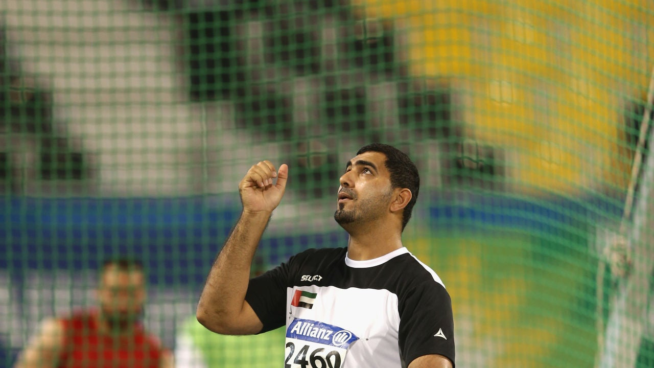 Abdullah Hayayei, durante una competición