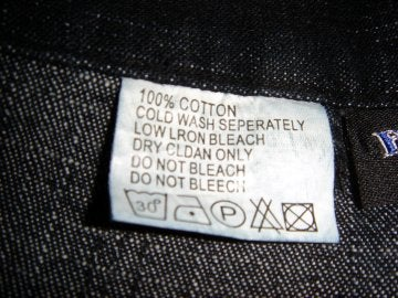 Etiqueta de una prenda de ropa