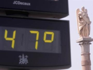 Un termómetro marca 47 grados en Córdoba