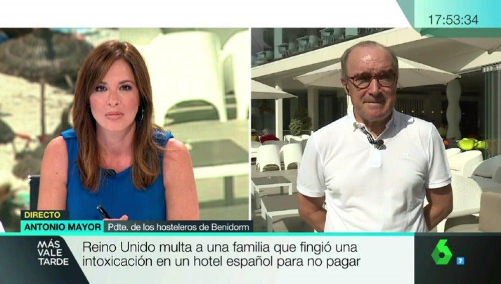 """Antonio Mayor denuncia las estafas de turistas británicos para no pagar: """"Es una desvergüenza impresionante"""""""