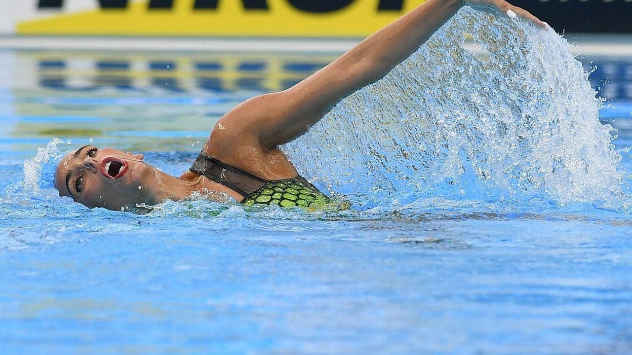 Ona Carbonell, durante su ejercicio en el sólo técnico