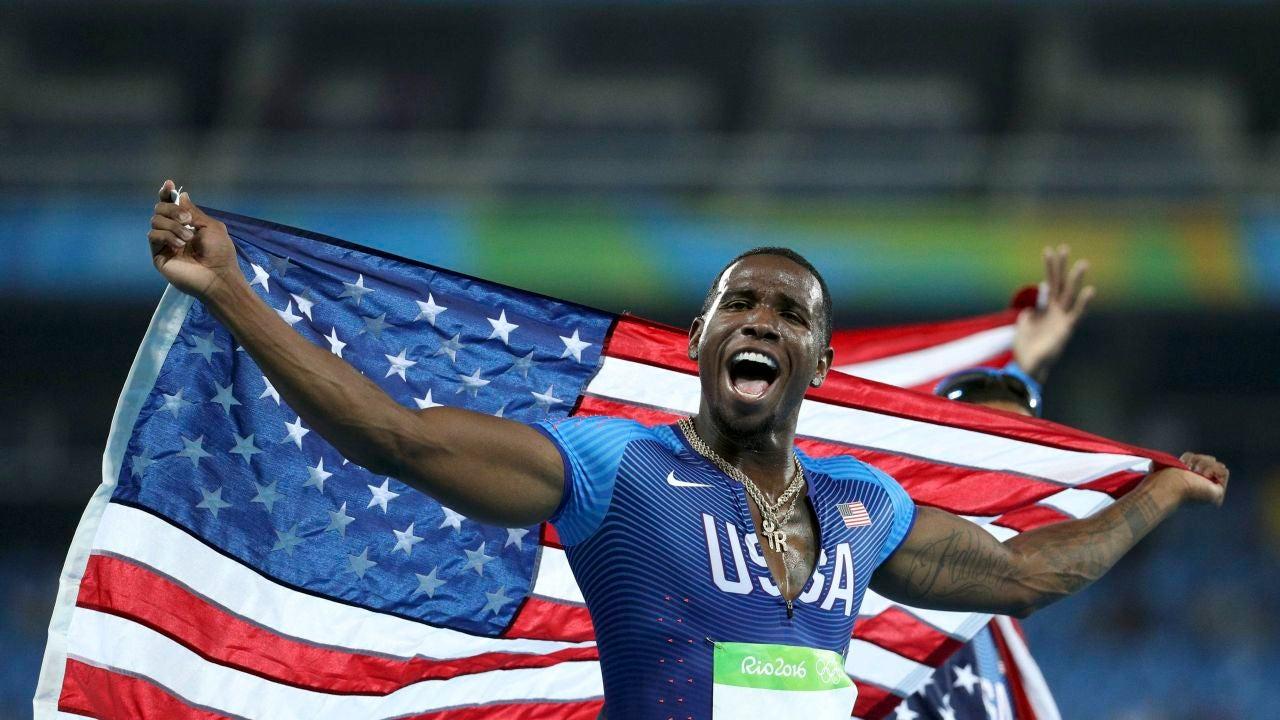Gil Roberts, tras ganar la medalla de oro en Río
