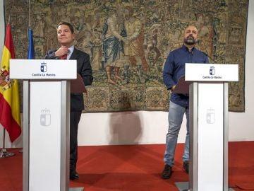 Page y García Molina en rueda de prensa