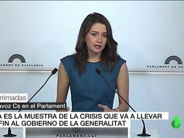 Inés Arrimadas ante los medios