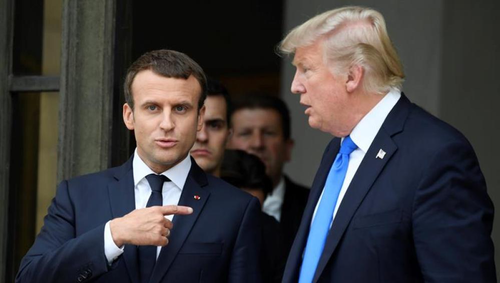 Emmanuel Macron y Donald Trump