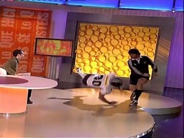 El encontronazo de Miki Nadal con un jugador de rugby