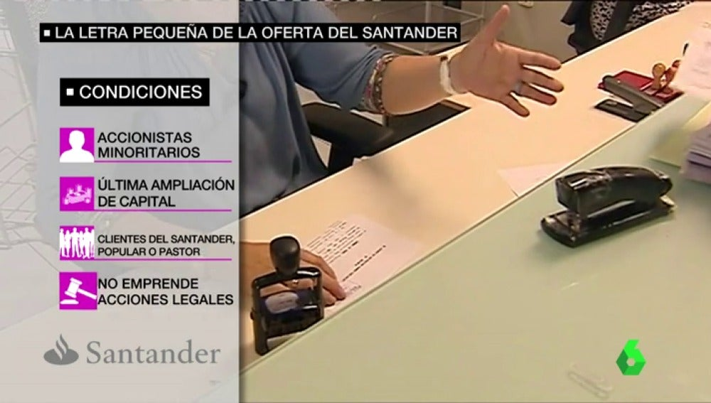 La letra pequeña de la oferta del Santander
