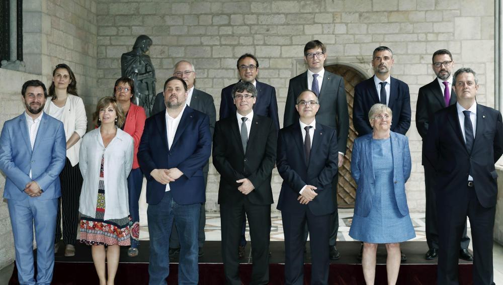 Foto de familia del nuevo del Govern de Cataluña
