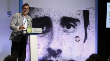 Mariano Rajoy en un homenaje a Miguel Ángel Blanco