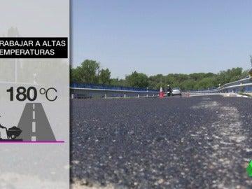 El calor del asfalto puede aumentar la temperatura a 180 grados