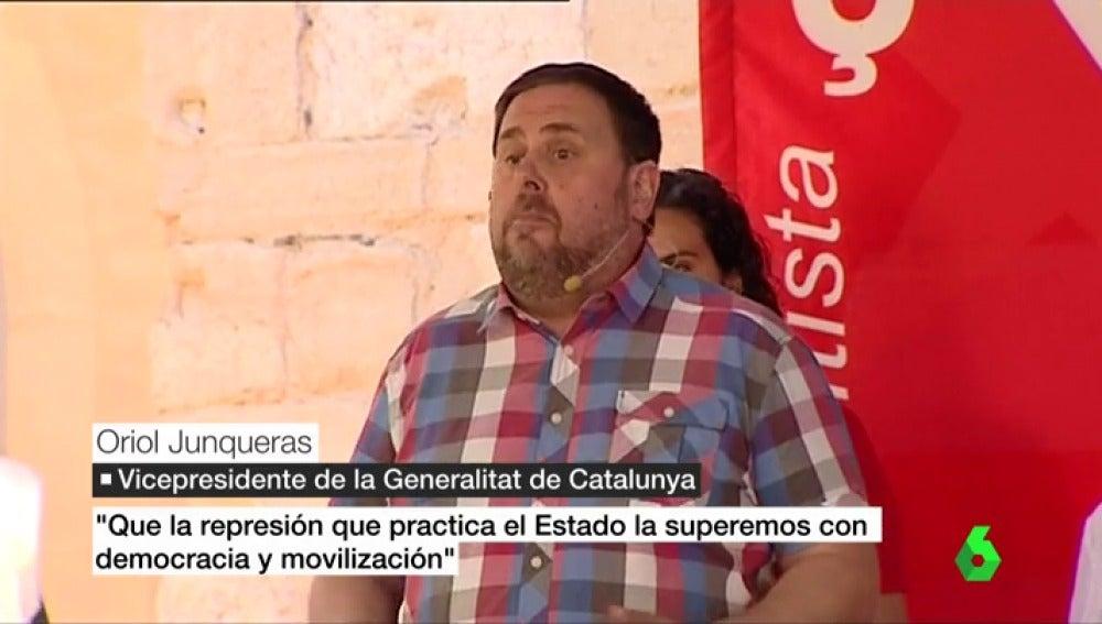 Oriol Junqueras responde a Mariano Rajoy