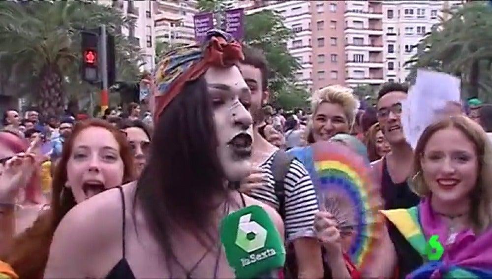 Participantes en el Orgullo de Alicante