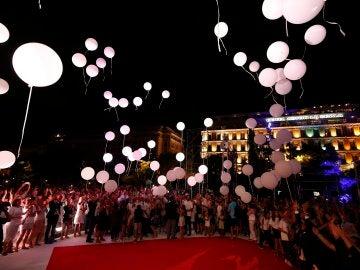 Uno de los actos para homenajear a las víctimas de Niza
