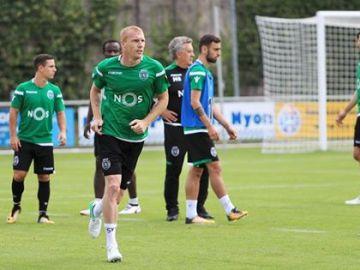 Mathieu, en un entrenamiento