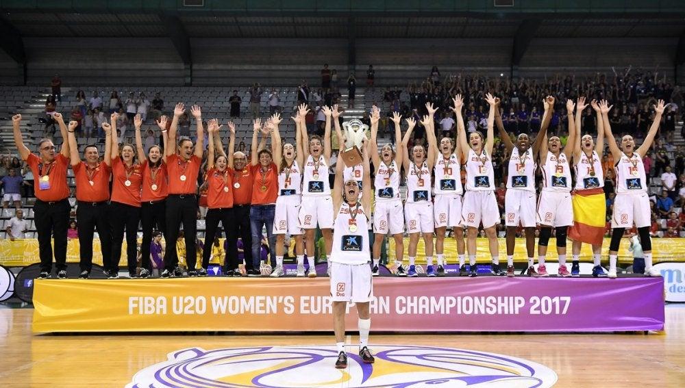 La selección sub 20 femenina de baloncesto, campeona de Europa