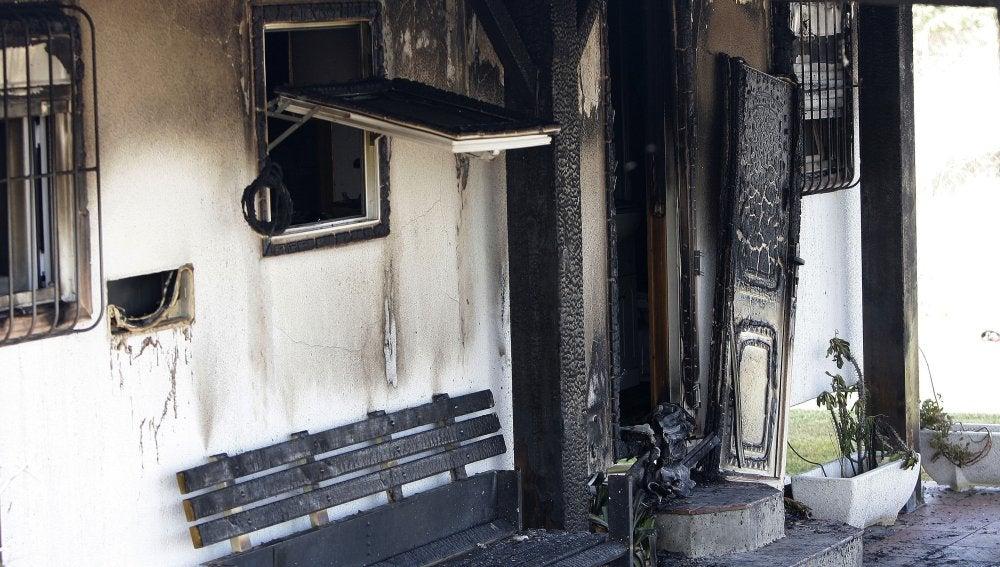 La vivienda que ha ardido en Vejer de la frontera, en Cádiz