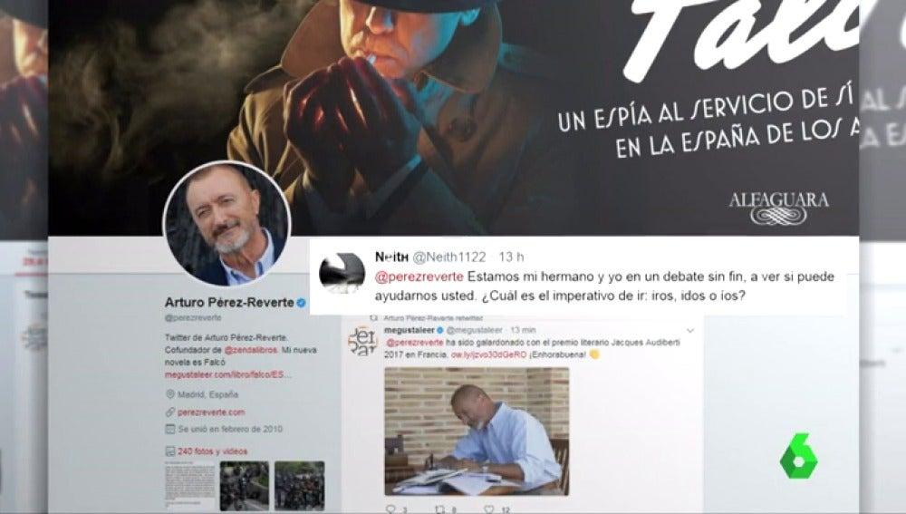 Indignación en redes sociales después de que Arturo Pérez-Reverte anuncie que la RAE aceptará 'iros' como imperativo de 'ir'