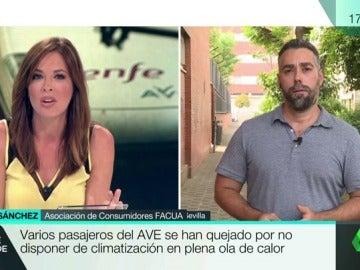 """Rubén Sánchez: """"Si el viaje en AVE es una tortura por falta de aire acondicionado hay derecho a la devolución íntegra"""""""