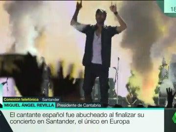"""Revilla, tras el concierto de Enrique Iglesias: """"Estamos enfadados, he dado instrucciones para quejarnos"""""""