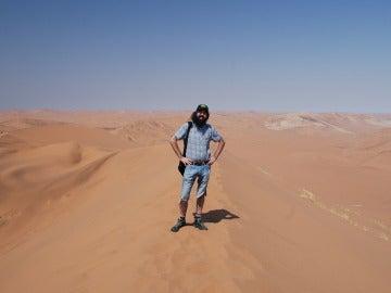 Jorge Arias viaja solo desde hace 20 años