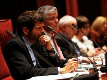 El director de los Mossos d'Esquadra, Albert Batlle, durante una comparecencia en el parlamento catalán